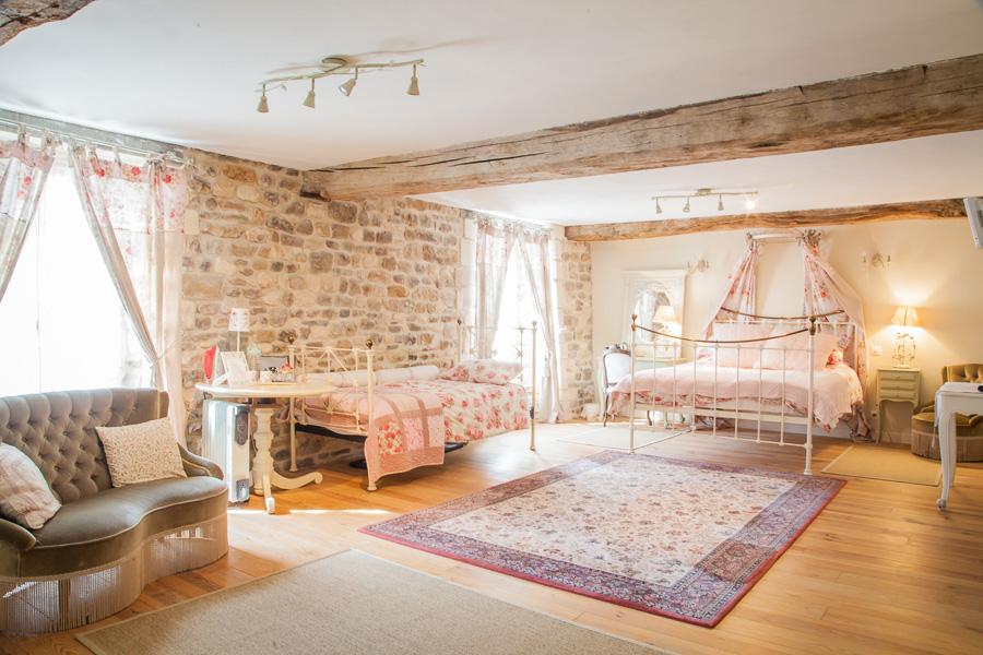 La Chambre Pivoine - La Vieille Abbaye - Chambres d'hôtes et gites de luxe - Calvados - Normandie